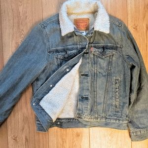Levi's Sherpa Trucker Denim Jacket